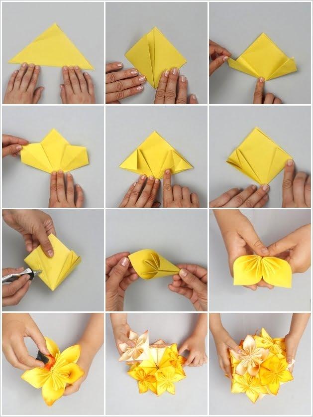 Сделать своими руками из бумаги цветы для мамы