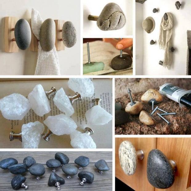 DIY Stone Wall Hooks!