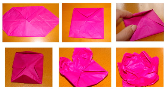 How to make a paper flower origami image collections flower how to make a paper folding flower gallery flower decoration ideas origami flower easy paper flowers mightylinksfo