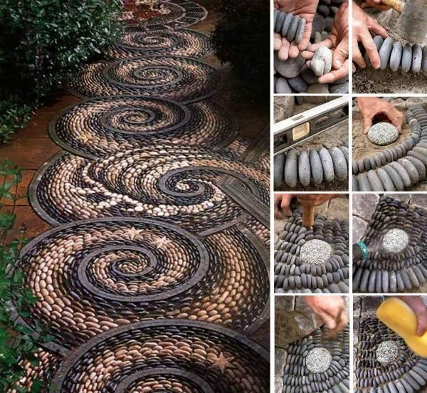 …Pebble Mosaic Walk Way…