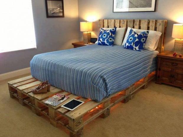 Under-lit Pallet Bed